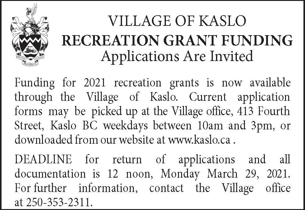Spring Recreation Grant