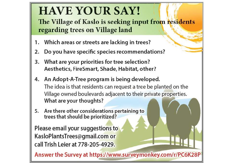 Tree Planting Plan Survey